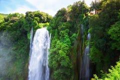 Cascata代勒Marmore瀑布 免版税图库摄影