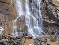 Cascata alla roccia del camino, NC fotografia stock