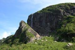 Cascata allo stagno occidentale del ruscello Fotografie Stock