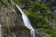 Cascata in alpi austriache, terra di Salzburger Fotografia Stock