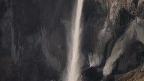 Cascata alta in Icealnd stock footage