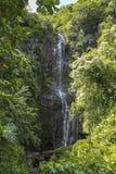 Cascata alta sulla strada a Hana, Maui, Hawai Fotografia Stock