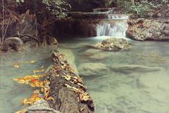 Cascata Asia Tailandia di Erawan Fotografia Stock
