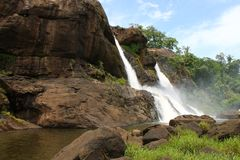 Cascata a Athirapally, Kerala immagine stock