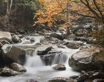 Cascata in autunno Fotografia Stock Libera da Diritti