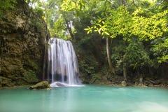 Cascata bella (cascata erawan) nella provincia di kanchanaburi Immagini Stock Libere da Diritti