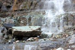 A cascata cai Ouray, CO Imagens de Stock