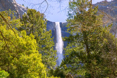 Cascata California di caduta di Yosemite Bridalveil Fotografia Stock