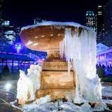 Cascata congelada em Bryant Park fotografia de stock