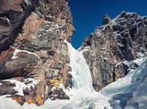 Cascata congelata Immagine Stock Libera da Diritti
