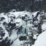 Cascata congelata Fotografia Stock