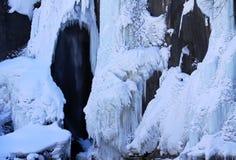 Cascata congelata Fotografie Stock