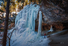 Cascata congelata Immagini Stock