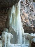 Cascata congelata enorme Fotografia Stock Libera da Diritti