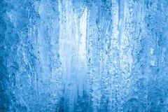 Cascata congelata Struttura dei ghiaccioli Chiuda sulla vista Immagine Stock