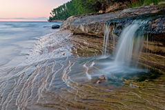 Cascata da praia do mineiro foto de stock