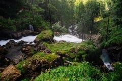 Cascata da sopra la vista, Austria di Gollinger Immagine Stock