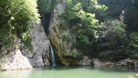 Cascata de cachoeiras bonitas video estoque