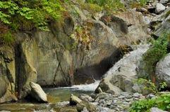 Cascata del briciolo del fiume della montagna Immagine Stock Libera da Diritti