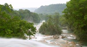 Cascata del Cascadas de Agua Azul Immagini Stock