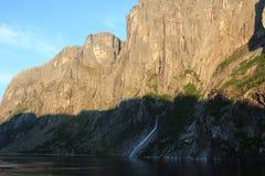 Cascata del fiordo Fotografia Stock