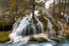 Cascata del fiume della montagna Fotografia Stock