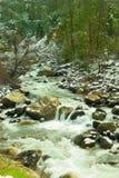 Cascata del fiume di Merced Fotografia Stock Libera da Diritti