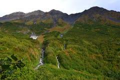 Cascata del giacimento di ghiaccio dell'Alaska Seward Harding Immagini Stock Libere da Diritti