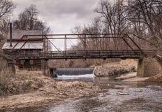 Cascata del mulino dello Iowa Fotografie Stock Libere da Diritti