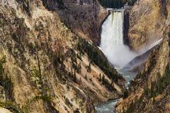 Cascata del punto degli artisti - parco nazionale di Yellowstone Fotografia Stock