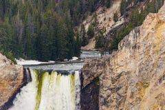 Cascata del punto degli artisti - parco nazionale di Yellowstone Fotografia Stock Libera da Diritti