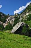 Cascata del Toce, Formazza valley, Italy. Toce mountain waterfall. Landscape in the Italian Alps, Formazza valley, Ossola, Italy Royalty Free Stock Photo