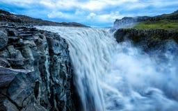 Cascata dell'Islanda Detifoss Fotografie Stock Libere da Diritti