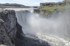 Cascata dell'Islanda di estate Fotografia Stock Libera da Diritti