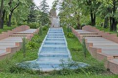 Cascata della cascata del giardino fotografia stock libera da diritti
