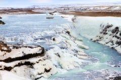 Cascata della cascata di Gullfoss Immagini Stock