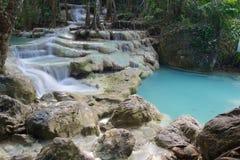 Cascata della cascata in Erawan Immagini Stock