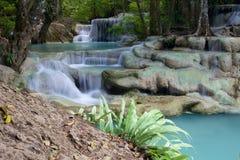 Cascata della cascata in Erawan Immagine Stock Libera da Diritti
