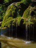 Cascata della corrente Cascata della montagna di Bigar, Romania Fotografia Stock