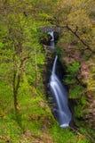 Cascata della forza di Aira, Cumbria, Inghilterra, Regno Unito immagini stock