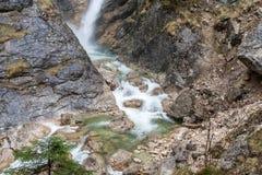 Cascata della gola di Pollat il Neuschwanstein - in Germania Fotografia Stock