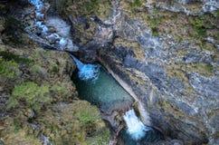 Cascata della gola di Pollat nel Neuschwanstein Immagini Stock Libere da Diritti