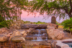 Cascata della Jacuzzi Fotografia Stock