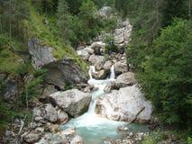 Cascata della montagna Fotografia Stock