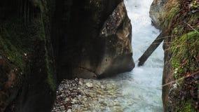 Cascata della montagna in Baviera, movimento lento video d archivio