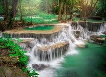 Cascata della Tailandia in Kanchanaburi Fotografia Stock