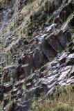 Cascata della traccia di escursione di Levada di venticinque fontane, Madera di Risco Immagine Stock Libera da Diritti