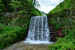 Cascata della valle di Sadu Fotografie Stock