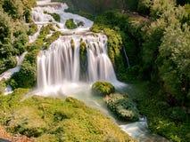 Cascata delle Marmore,翁布里亚,意大利 库存照片