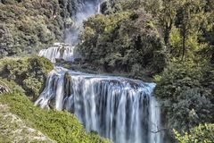 Cascata Delle Marmore siklawy w Terni, Umbria, Włochy obrazy royalty free